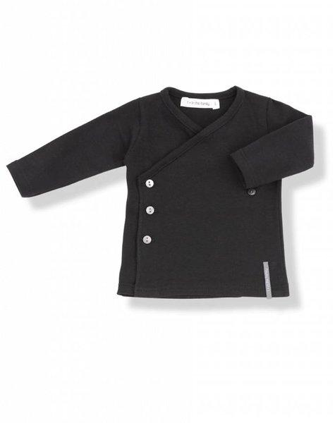 1+ in the family Maria newborn shirt black
