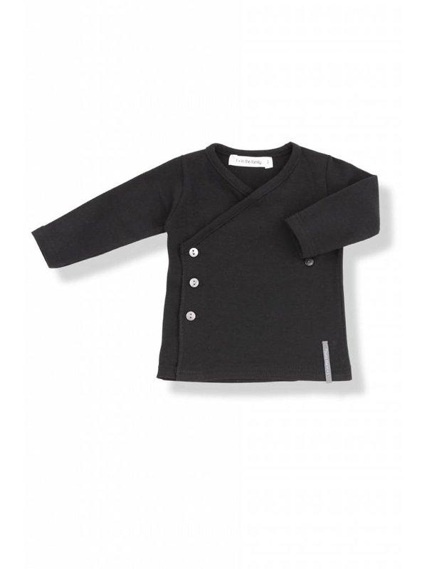 Newborn shirt black LAATSTE MAAT 12M