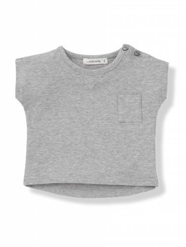 1+ in the family Nacho t-shirt grey