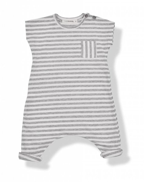 1+ in the family Ferran jumpsuit white/grey