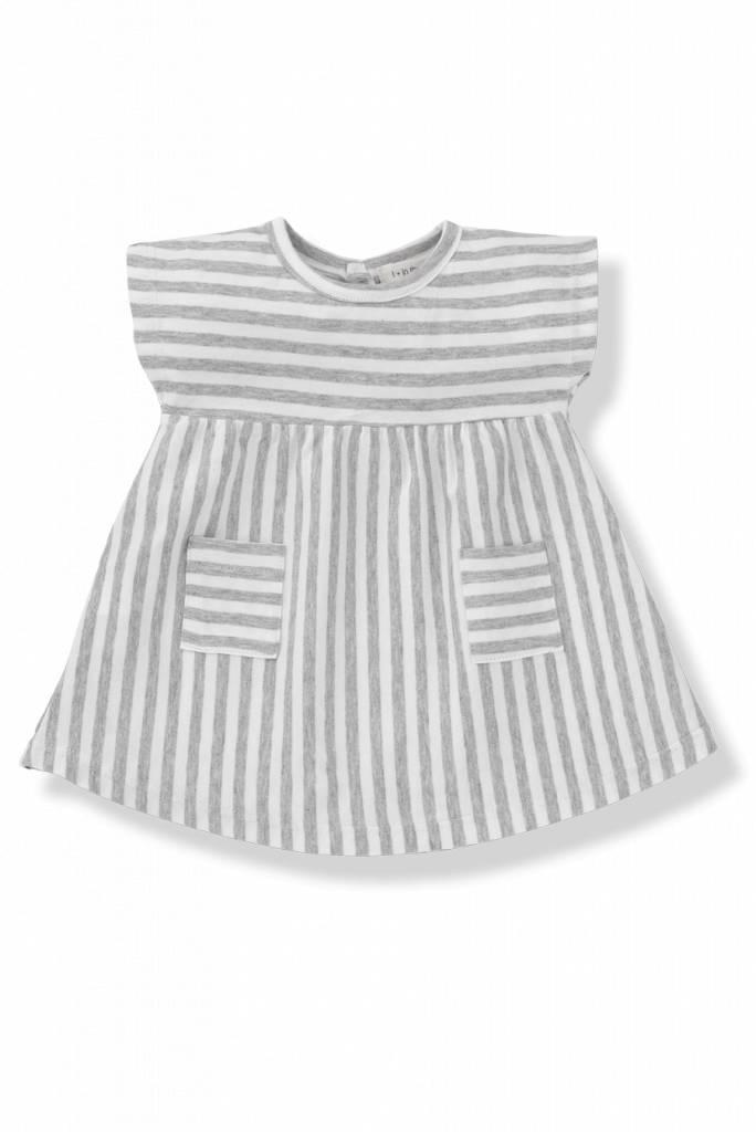 Carol dress white/grey