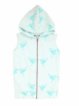 Iglo+Indi Aqua Bird hooded vest