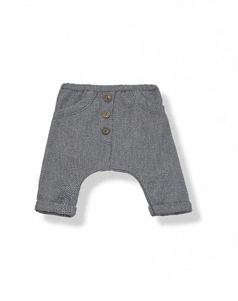 1+ in the family Bertran baggy pants blue