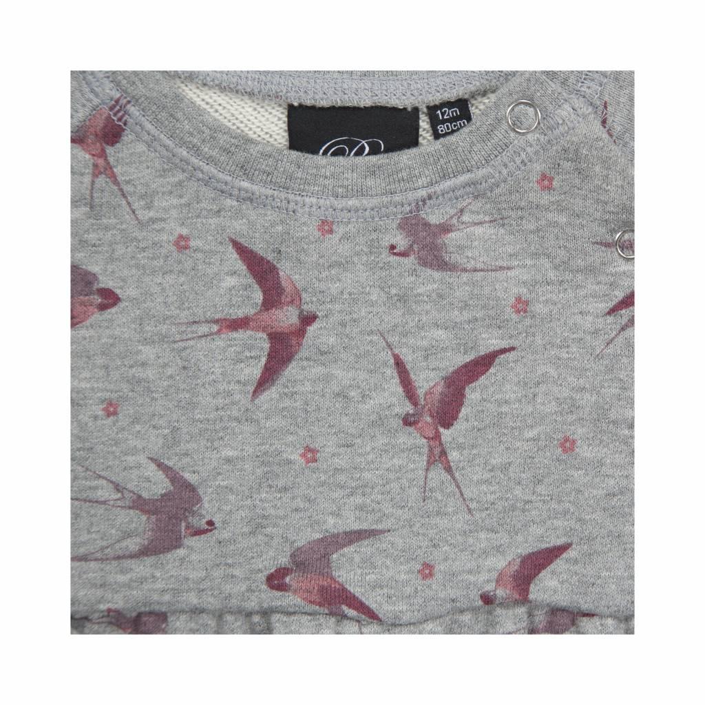 Grey sweatdress bird