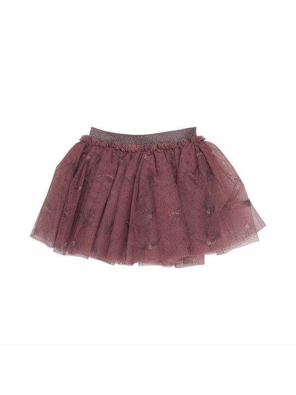 LAATSTE MAAT 2-3Y Tull skirt rouge