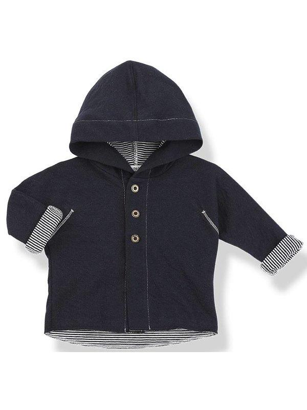 Barcelo hood jacket blu notte