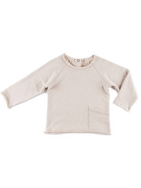 Raw Edge Sweater Oatmeal
