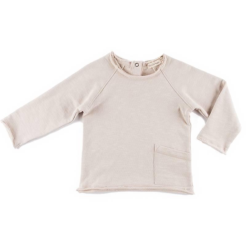 Raw Edge Sweater Oatmeal