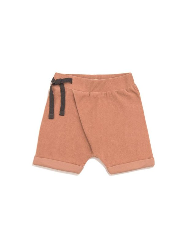SOLD Frotté harem shorts toffee