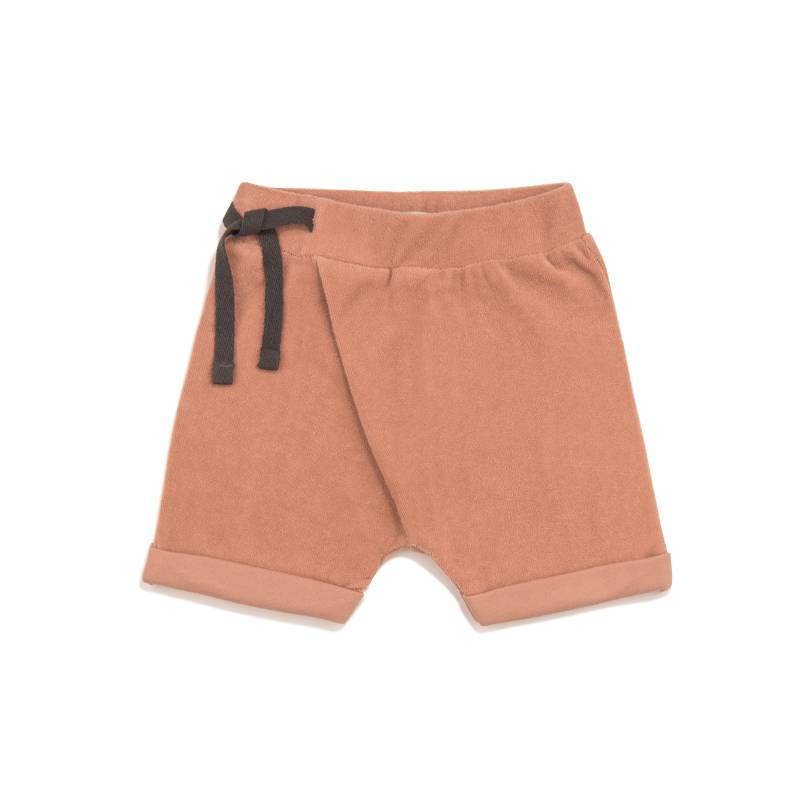 Frotté harem shorts toffee