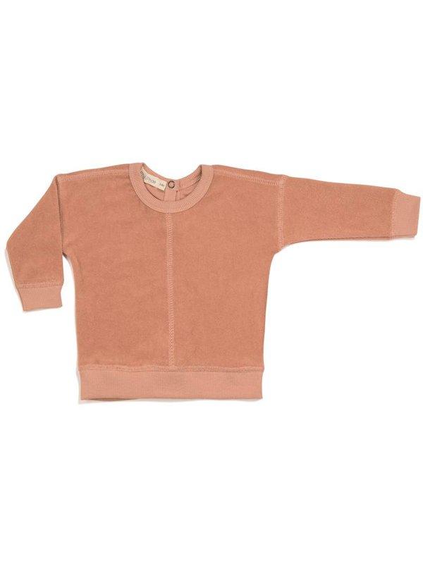 LAATSTE MAAT 0-3M Frotté Sweater Toffee