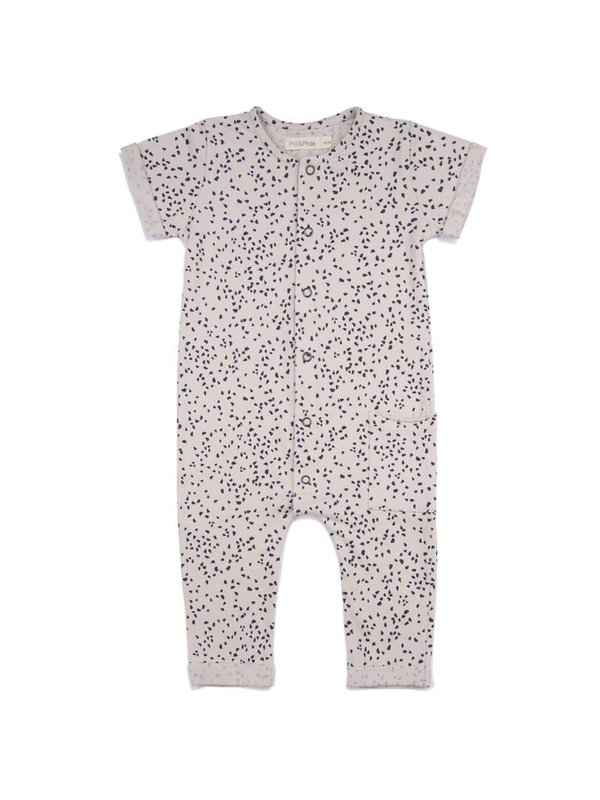 Pocket Jumpsuit Print Oatmeal