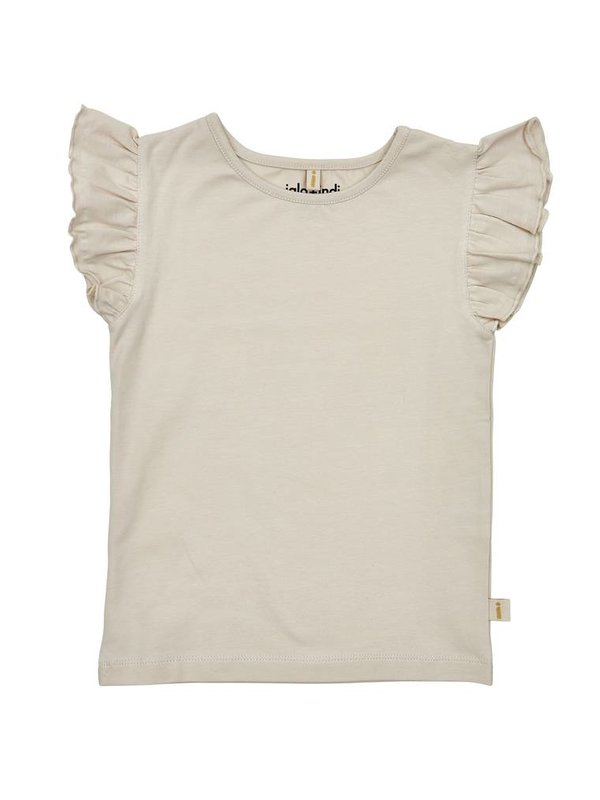 Pearl ruffle sleeve top