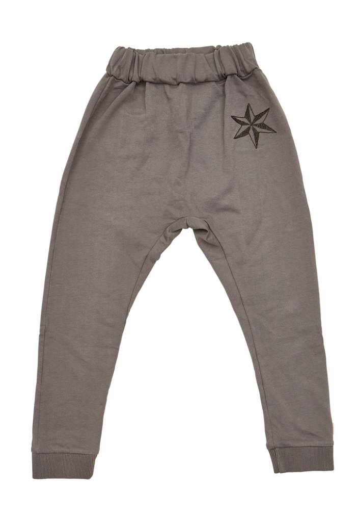 Charcoal star pants