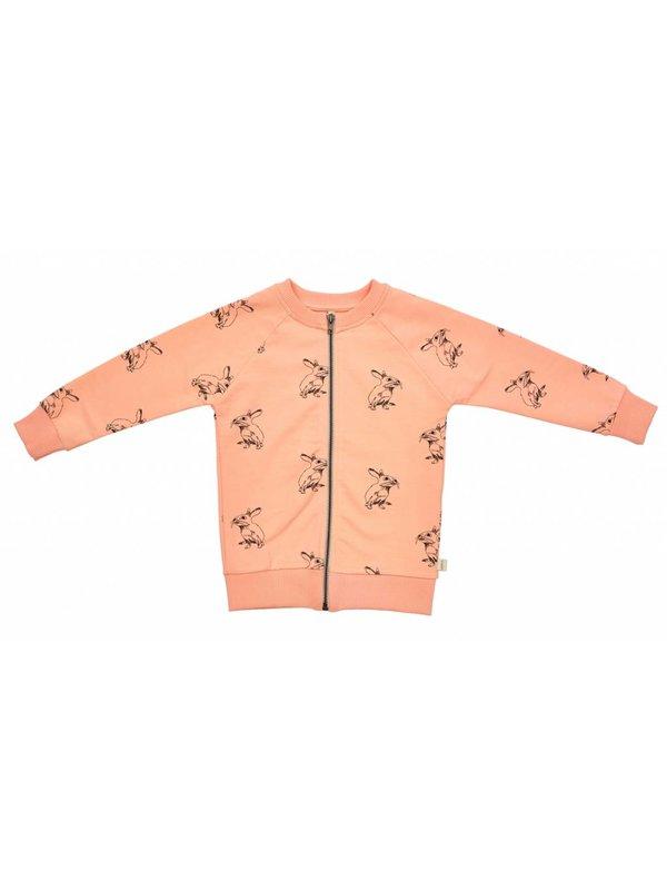 Peach Bunny Zipped Crew