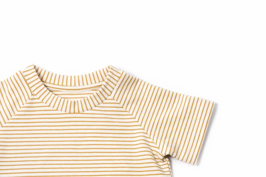 Ochre Stripe T-shirt Dress