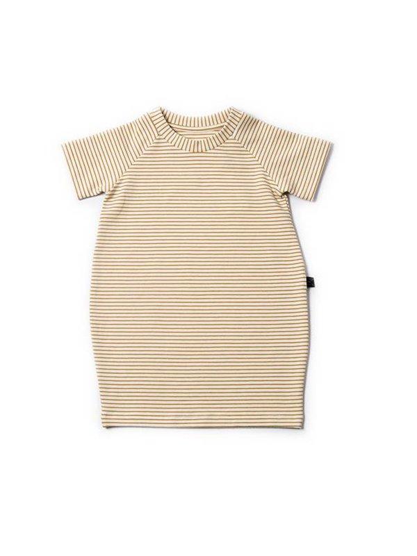 Ochre Stripe T-shirt Dress LAATSTE MAAT 5/6Y
