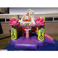 Springkussen Circus Clown + slide 3,5x3,5m