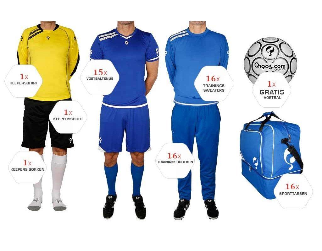 Quick Quick Voetbal Premium Pakket - Blauw/Wit
