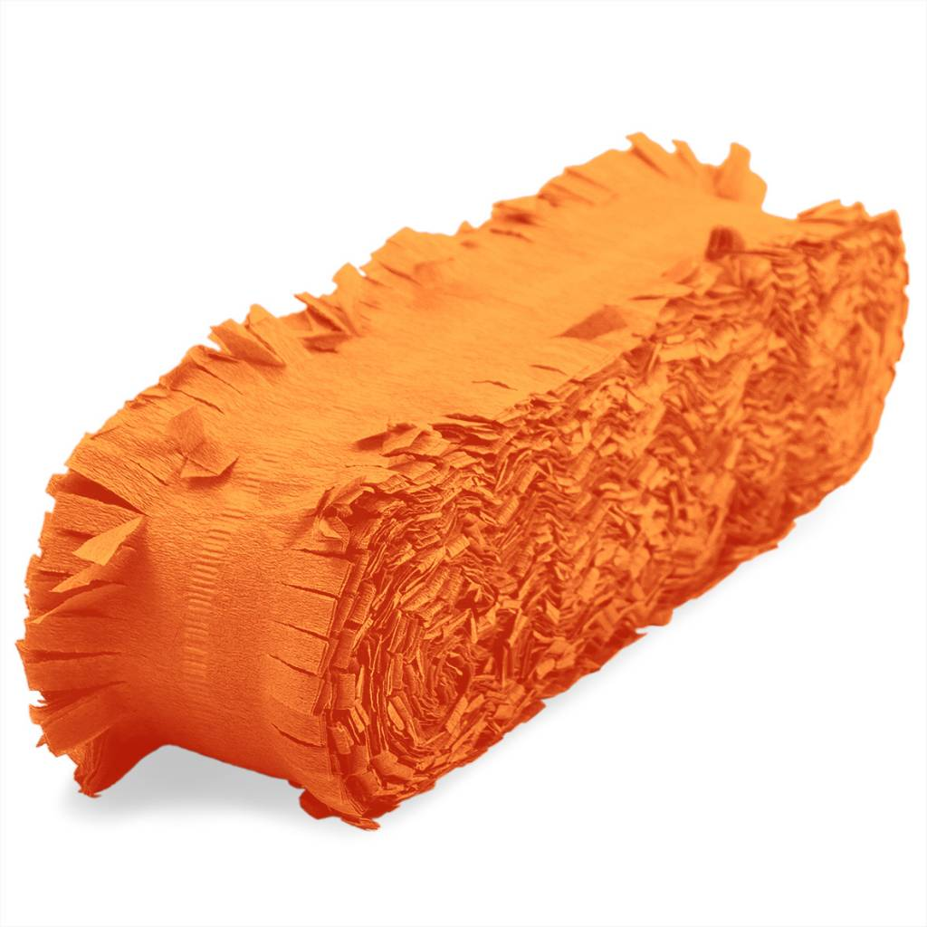 Feestfestijn Slingers Crepe Guirlandes Oranje 24 meter Brandvertragend