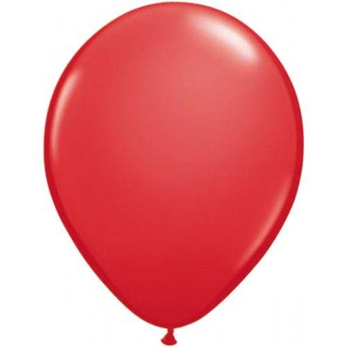 Feestfestijn Ballon Rood 10 stuks - 30cm Metallic