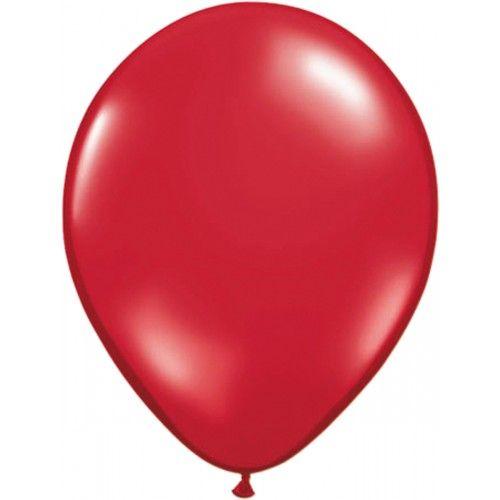 Feestfestijn Ballon Robijnrood 100 stuks - 30cm