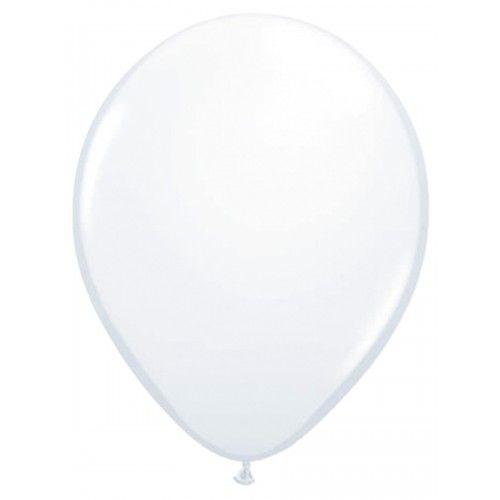 Feestfestijn Ballon Wit 10 stuks - 30cm Metallic