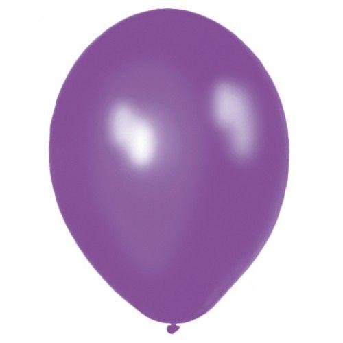 Feestfestijn Ballon Paars 10 stuks - 30cm Metallic