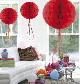 Feestfestijn Honeycomb rond Rood