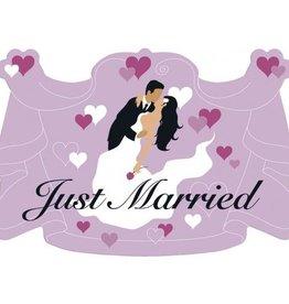Feestfestijn Deurbord Just Married Roze