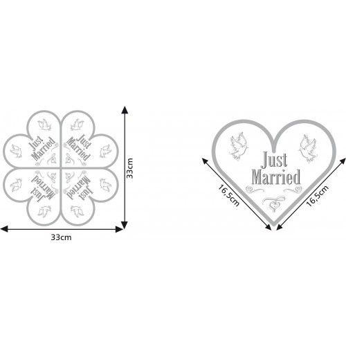 Feestfestijn Servetten Just Married in hartvorm