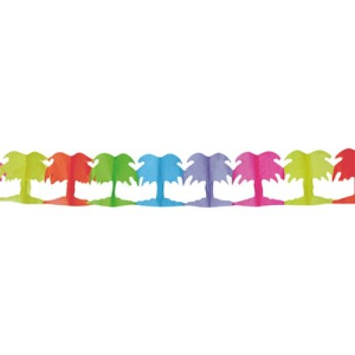 Feestfestijn Slinger Palmboom Multi 4 meter brandvertragend