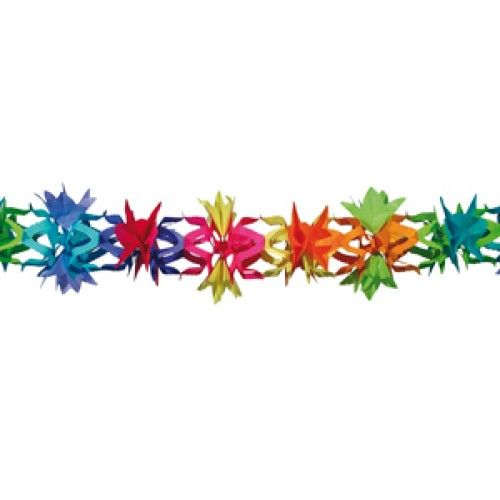 Feestfestijn Slinger Floral Multi 6 meter niet-brandvertragend