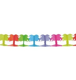 Feestfestijn Slinger Palmboom Multi 6 meter (3st) brandvertragend