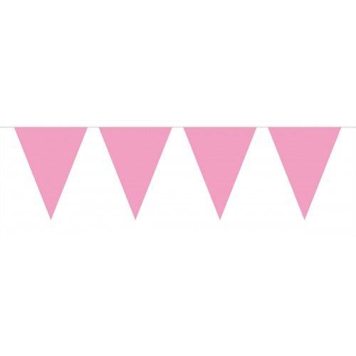 Feestfestijn Vlaggenlijn Roze 10 meter