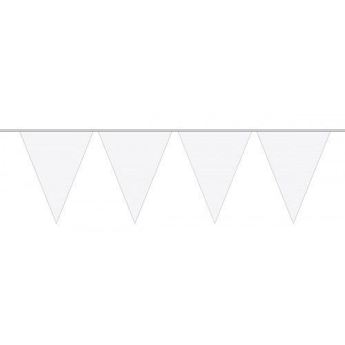 Feestfestijn Vlaggenlijn Wit 10 meter