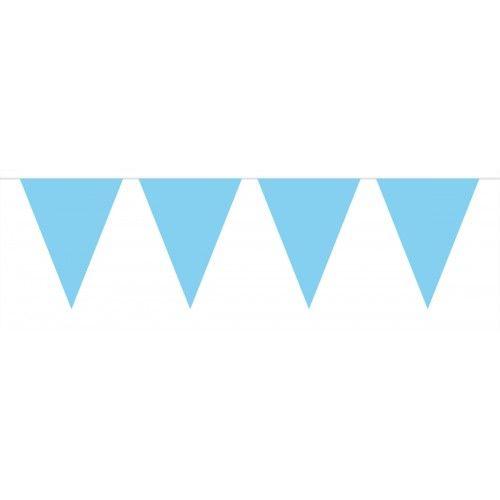 Feestfestijn Vlaggenlijn Baby Blauw 10 meter