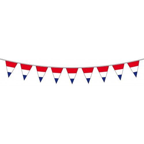 Feestfestijn Vlaggenlijn Rood/Wit/Blauw 10 meter
