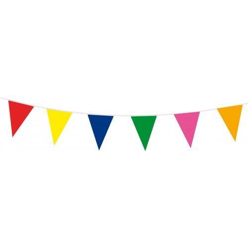 Feestfestijn Vlaggenlijn Multicolour 10 meter