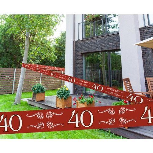 Feestfestijn Markeerlint 40 jaar - 15 meter