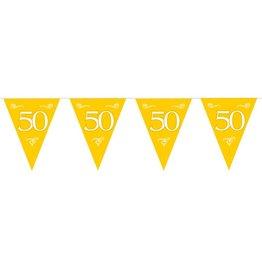 Feestfestijn Vlaggenlijn Goud 50 jaar