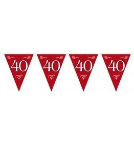 Feestfestijn Vlaggenlijn Robijnrood 40 jaar