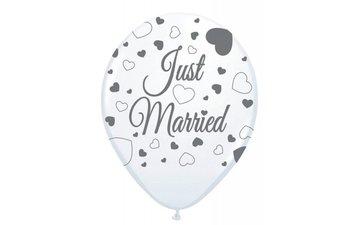 Feestfestijn Ballon Just married 8 stuks