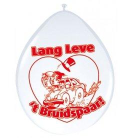 Feestfestijn Ballon Lang leve het Bruidspaar 8 stuks