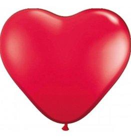 Feestfestijn Ballon Hart Rood 8 stuks