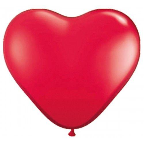 Feestfestijn Ballon Hart Rood 8 stuks - 30 cm