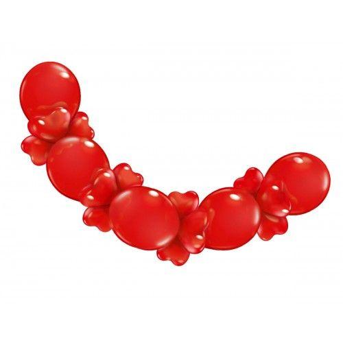 Feestfestijn Ballonslinger Love Rood + harten