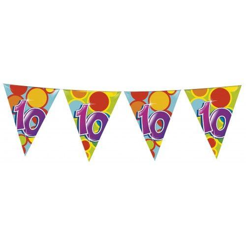 Feestfestijn Vlaggenlijn 10 jaar - 10 meter