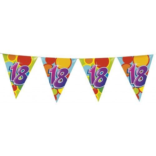 Feestfestijn Vlaggenlijn 18 jaar - 10 meter