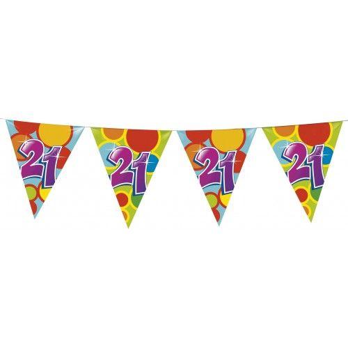 Feestfestijn Vlaggenlijn 21 jaar - 10 meter